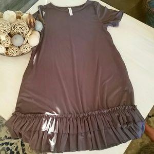 Gray Ruffle dress M